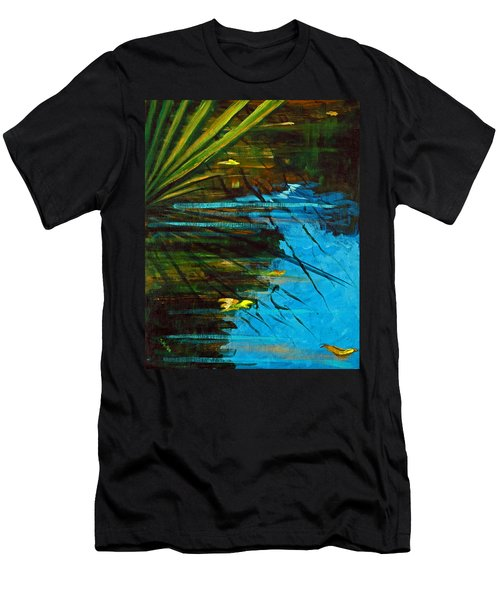 Floating Gold On Reflected Blue Men's T-Shirt (Athletic Fit)