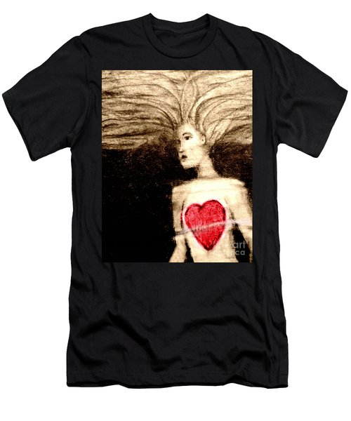 Floating Heart Men's T-Shirt (Athletic Fit)