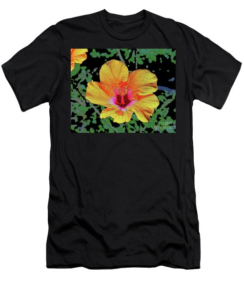Floating Hibiscus Men's T-Shirt (Athletic Fit)