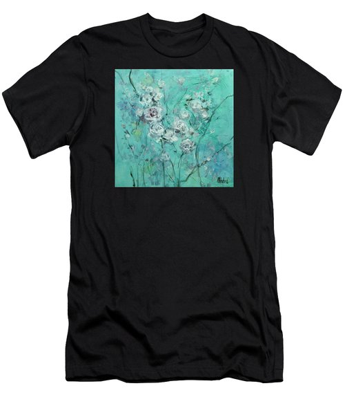 Floating Roses Painting Men's T-Shirt (Athletic Fit)