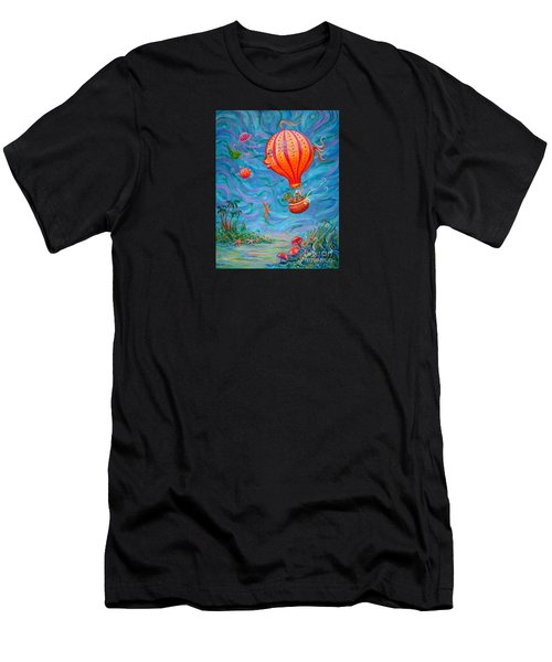 Floating Under The Sea Men's T-Shirt (Athletic Fit)