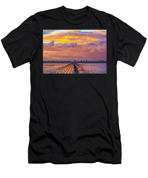 Flooded Field At Sunset Men's T-Shirt (Athletic Fit)