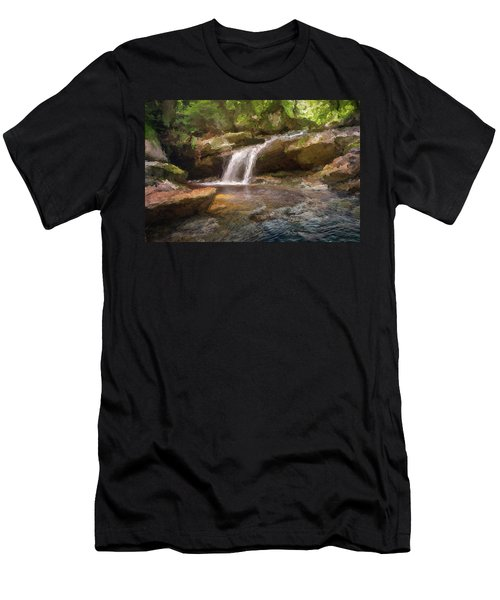 Flooded Waterfall In The Forest Men's T-Shirt (Athletic Fit)