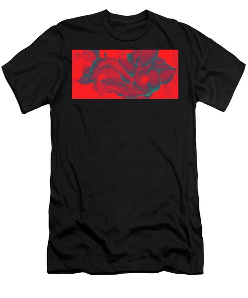 Floral Abstract In Dramatic Red Men's T-Shirt (Athletic Fit)