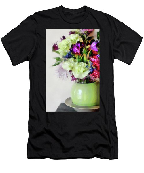 Floral Bouquet In Green Men's T-Shirt (Athletic Fit)