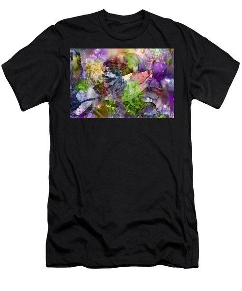Men's T-Shirt (Athletic Fit) featuring the digital art Floral Dream Of Oriental Beauty by Silva Wischeropp