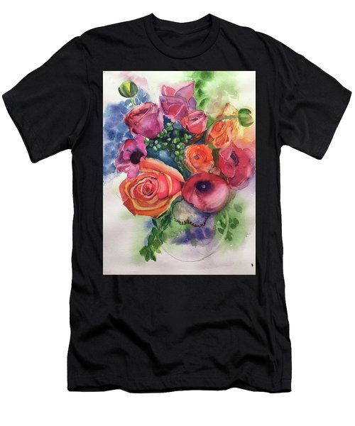 Floral Fantasy Men's T-Shirt (Athletic Fit)