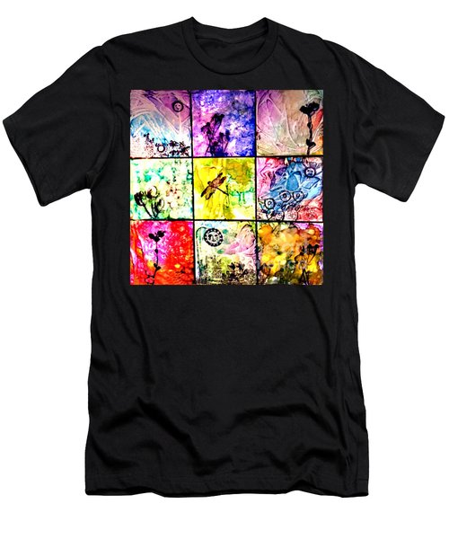 Floral Frenzy Men's T-Shirt (Slim Fit) by Alene Sirott-Cope