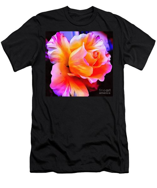 Floral Interior Design Thick Paint Men's T-Shirt (Athletic Fit)