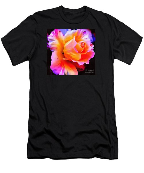 Floral Interior Design Thick Paint Men's T-Shirt (Athletic Fit)