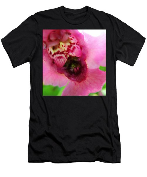 Floral Mask Men's T-Shirt (Athletic Fit)