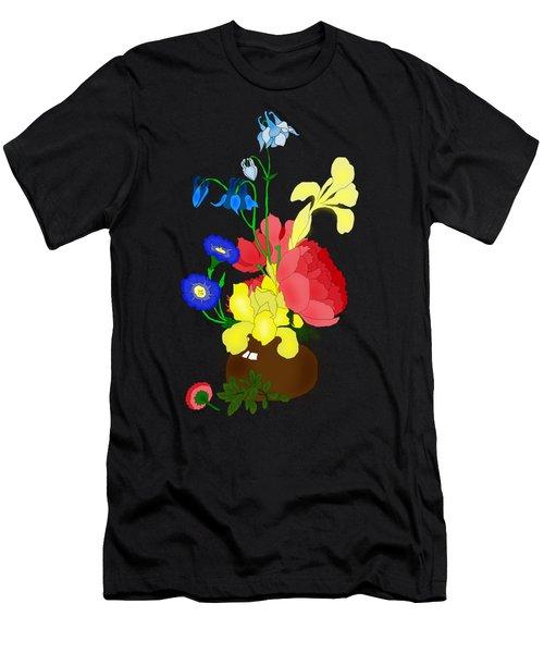 Floral Still Life 1674 Men's T-Shirt (Athletic Fit)