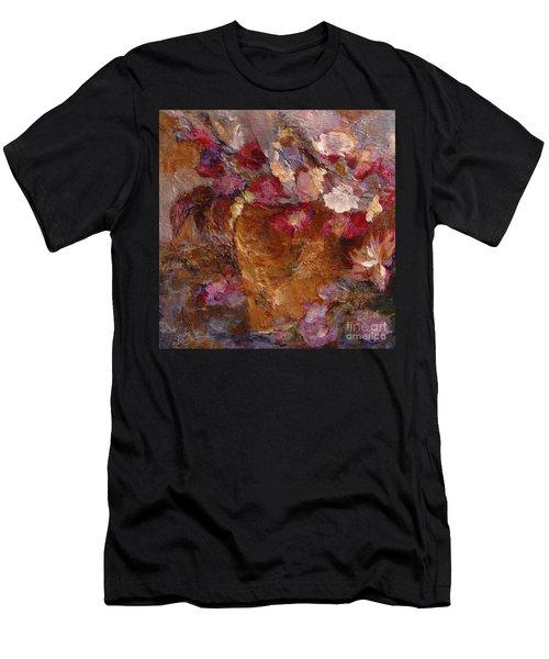 Floral Still Life Pinks Men's T-Shirt (Athletic Fit)