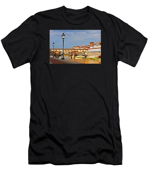 Florence Arno River View Men's T-Shirt (Athletic Fit)