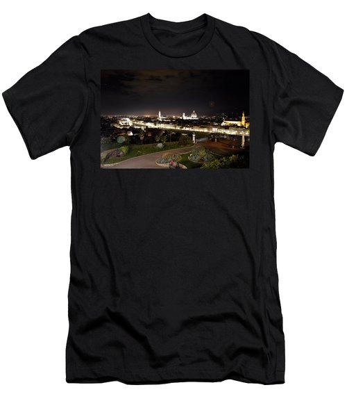 Florence At Night Men's T-Shirt (Athletic Fit)