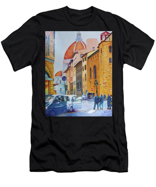 Florence Going To The Duomo Men's T-Shirt (Athletic Fit)