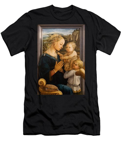 Florence - Madonna And Child With Angels- Filippo Lippi Men's T-Shirt (Athletic Fit)
