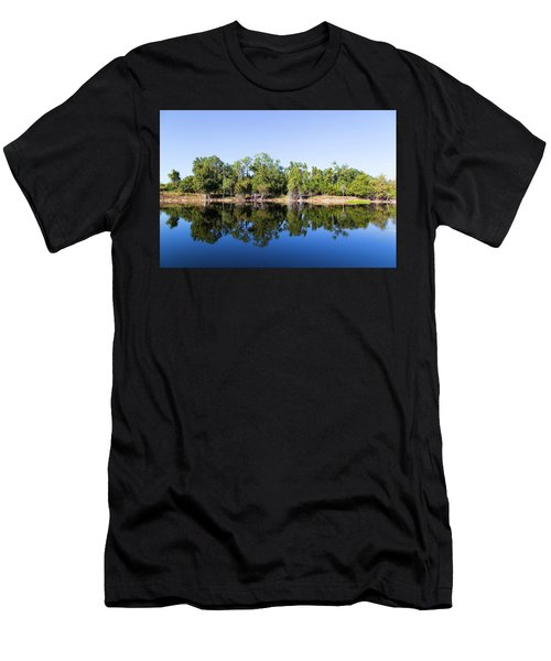 Florida Lake And Trees Men's T-Shirt (Athletic Fit)