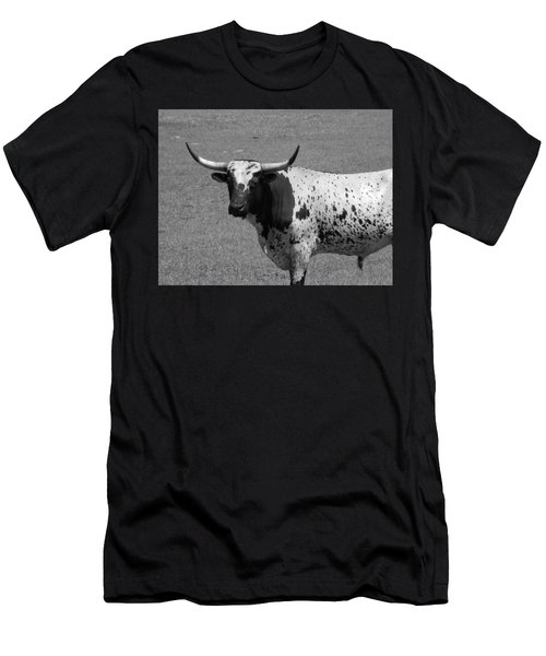 Florida Longhorn Black And White Photo Men's T-Shirt (Athletic Fit)