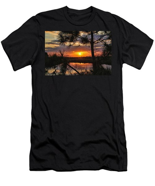 Florida Pine Sunset Men's T-Shirt (Athletic Fit)