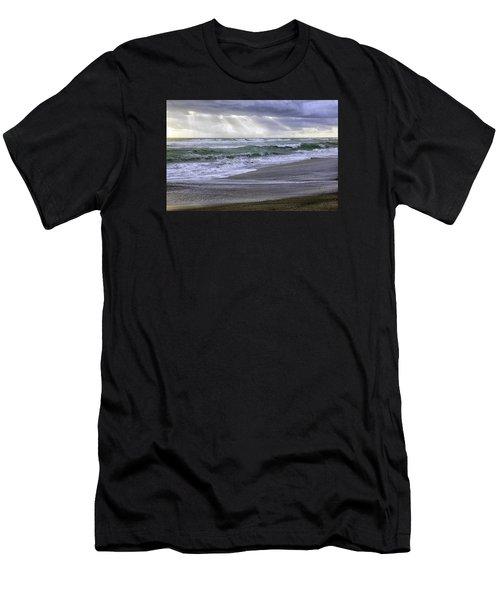 Florida Treasure Coast Beach Storm Waves Men's T-Shirt (Athletic Fit)