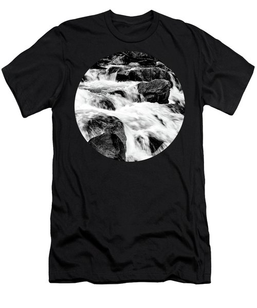 Flow, Black And White Men's T-Shirt (Slim Fit) by Adam Morsa