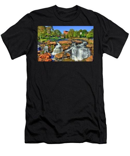 Flow On Reedy River Falls Park Art Greenville South Carolina Art Men's T-Shirt (Athletic Fit)