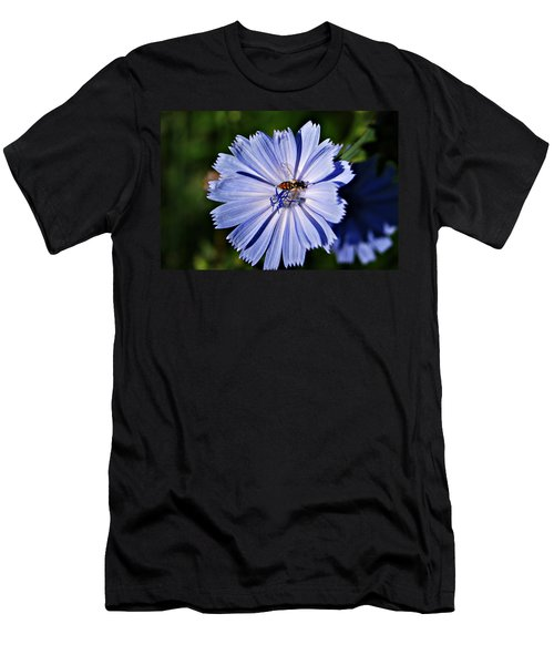 Flower And Bee 2 Men's T-Shirt (Athletic Fit)
