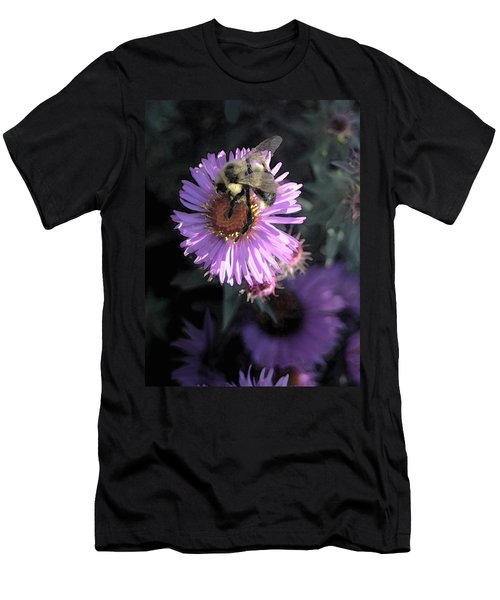 Flower And Bee Men's T-Shirt (Athletic Fit)