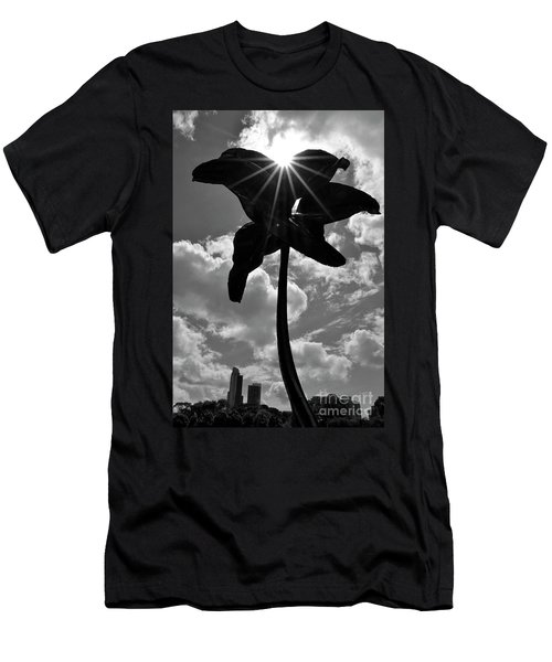 Men's T-Shirt (Slim Fit) featuring the photograph Flower Art by Zawhaus Photography