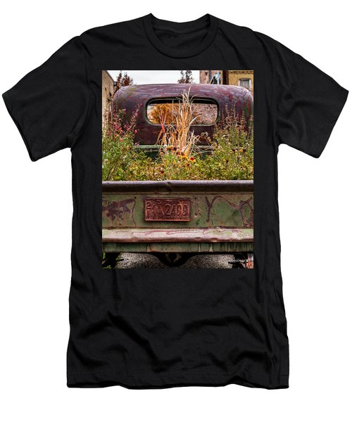 Flower Bed - Nature And Machine Men's T-Shirt (Athletic Fit)