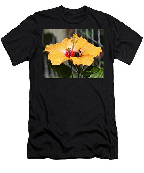 Flower Bee Men's T-Shirt (Athletic Fit)