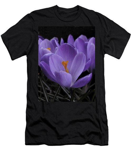 Flower Crocus Men's T-Shirt (Athletic Fit)