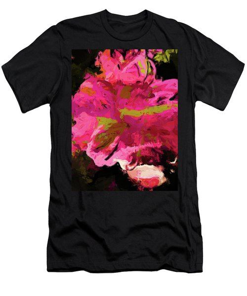 Flower Euphoria Magenta Pink Men's T-Shirt (Athletic Fit)