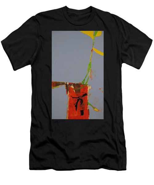 Flower In Pitcher- Abstract Of Course Men's T-Shirt (Athletic Fit)