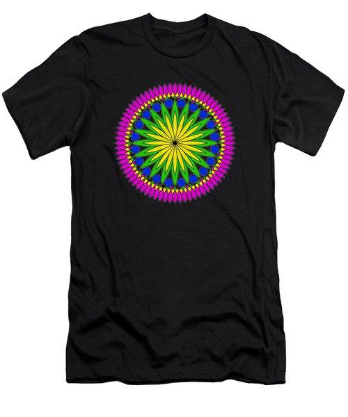 Flower Mandala By Kaye Menner Men's T-Shirt (Athletic Fit)