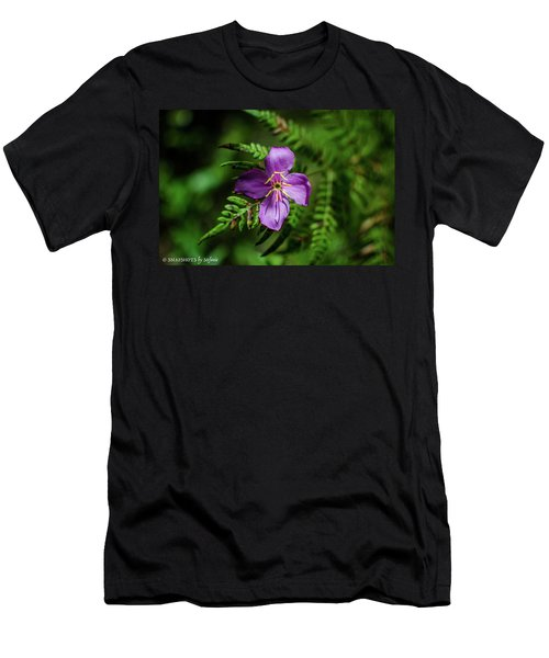 Flower On The Fern Men's T-Shirt (Slim Fit) by Stefanie Silva