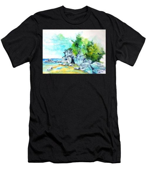 Flower Pot Island Men's T-Shirt (Athletic Fit)