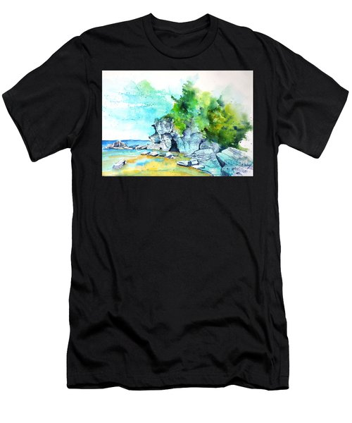 Flower Pot Island Men's T-Shirt (Athletic Fit)