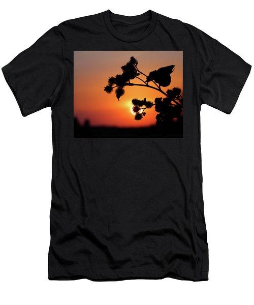 Flower Silhouette Men's T-Shirt (Slim Fit) by Teemu Tretjakov