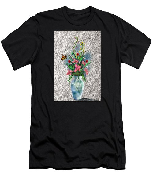 Men's T-Shirt (Athletic Fit) featuring the digital art Flower Study Three by Darren Cannell