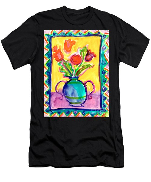 Flower Vase Men's T-Shirt (Athletic Fit)