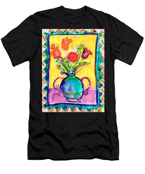 Flower Vase Men's T-Shirt (Athletic Fit)