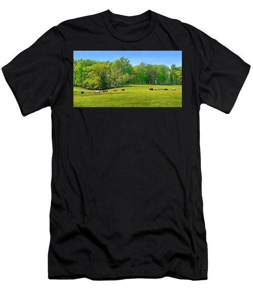 Flowering Cow Pasture Men's T-Shirt (Athletic Fit)
