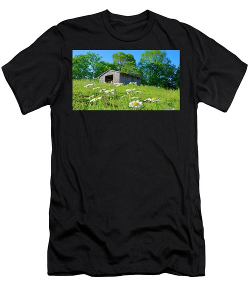 Flowering Hillside Meadow Men's T-Shirt (Athletic Fit)