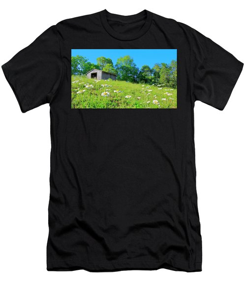 Flowering Hillside Meadow - View 2 Men's T-Shirt (Athletic Fit)
