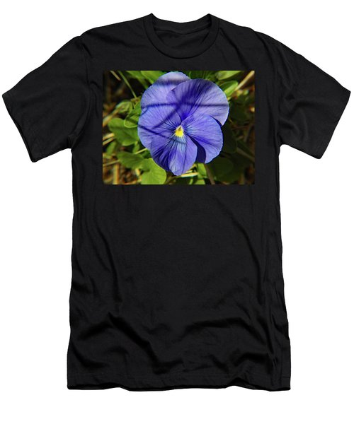 Flowering Pansy Men's T-Shirt (Athletic Fit)