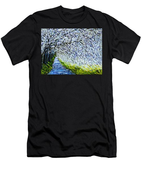 Flowering Tree Lane Men's T-Shirt (Athletic Fit)