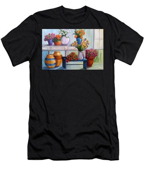 Flowerpots Men's T-Shirt (Athletic Fit)