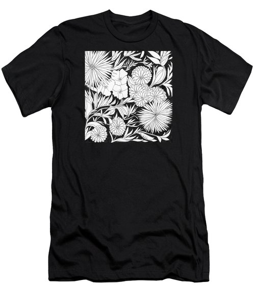 Men's T-Shirt (Slim Fit) featuring the painting Flowers 3 by Lou Belcher
